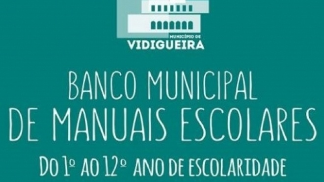Vidigueira alarga inscrições para Banco de Manuais Escolares