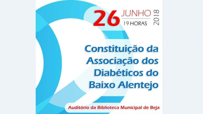É criada hoje a ADiBA – Associação dos Diabéticos do Baixo Alentejo