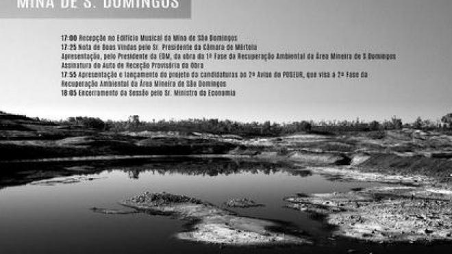 2ª fase da recuperação ambiental da Mina de S.Domingos