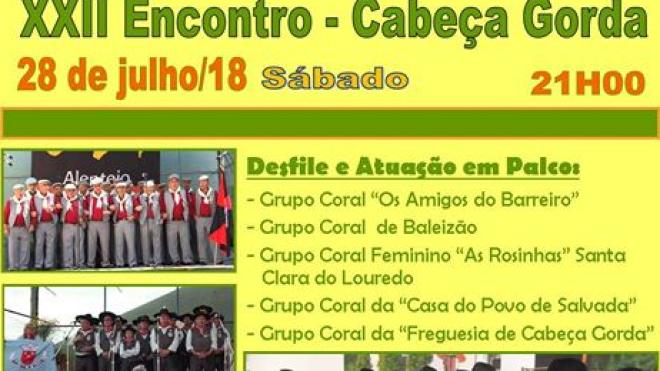 Cabeça Gorda recebe XXII Encontro de Cante Alentejano