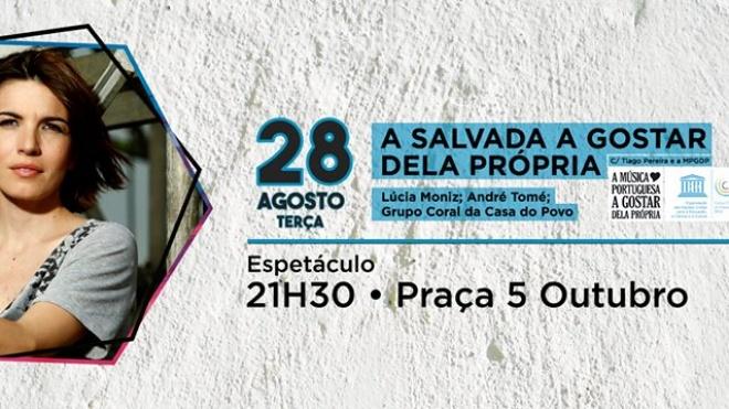 Lúcia Moniz na Semana Cultural de Salvada