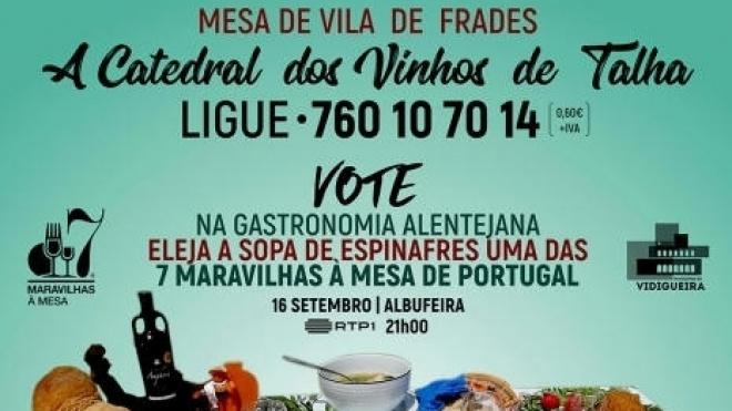 Mesa de Vila de Frades pode vir a ser uma das 7 Maravilhas à Mesa