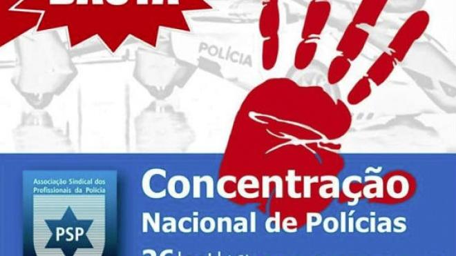 Concentração nacional de polícias em Lisboa