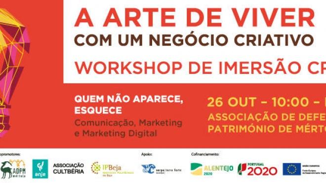 ADPM promove workshop sobre empreendedorismo criativo