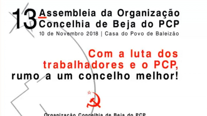 13ª Assembleia da Organização Concelhia de Beja do PCP