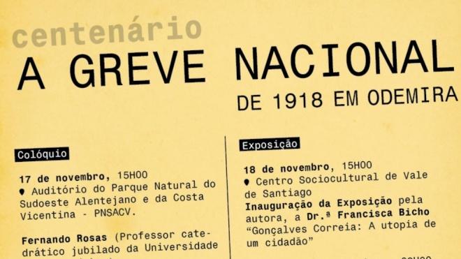 Odemira assinala centenário da grande greve nacional de 1918