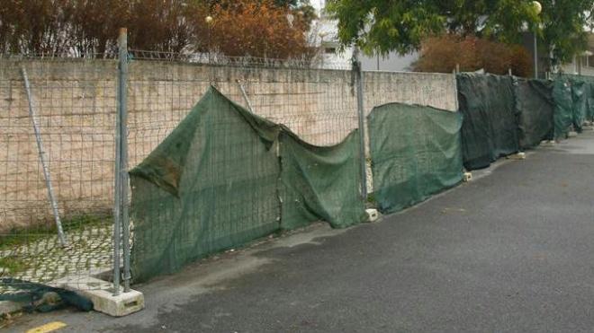 Construção de Muro de Suporte na Rua Cesário Verde