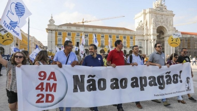 Professores concentram-se em Lisboa