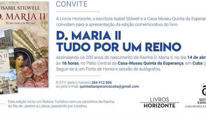 """Isabel Stilwell apresenta em Cuba o livro """"D. Maria II"""""""