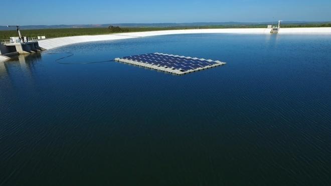 EDIA: Painéis fotovoltaicos flutuantes no reservatório da Cegonha