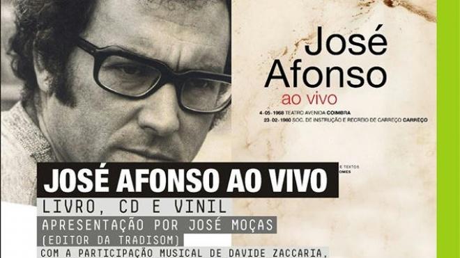 """José Afonso ao Vivo (livro, CD e vinil)"" hoje na Biblioteca de Beja"