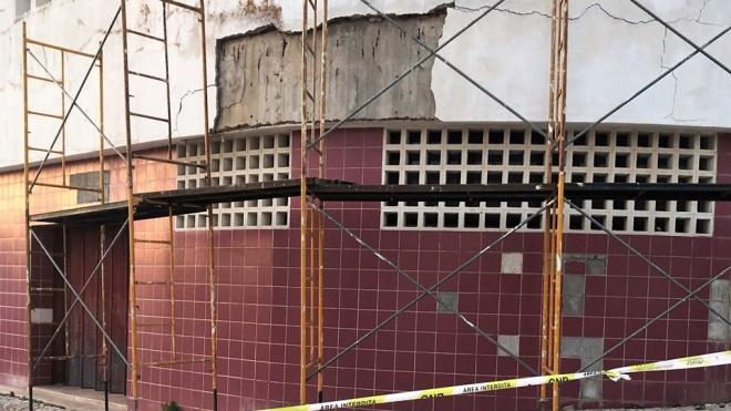 Derrocada no edifício do Palácio da Justiça de Ferreira do Alentejo
