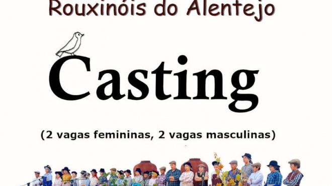 Rouxinóis do Alentejo fazem casting no dia 3 deste mês