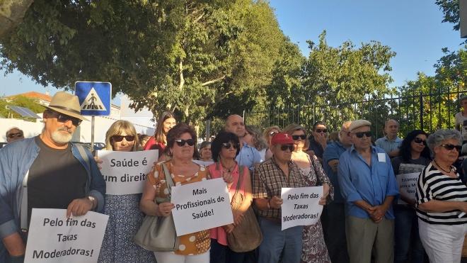 Comissão de Utentes de Beja saiu à rua em defesa do SNS