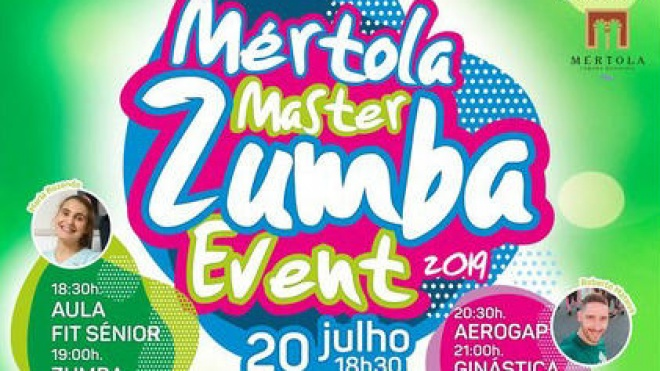 Mértola Master Zumba Event no cais do Guadiana