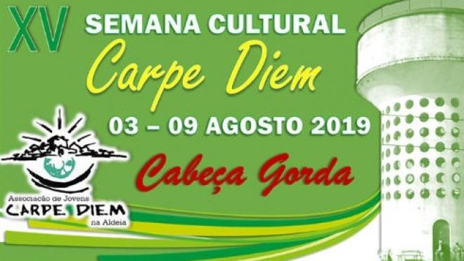 XV Semana Cultural Carpe Diem de 3 a 9 de agosto