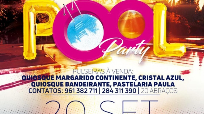 CERCIBEJA promove Pool Party na Piscina Municipal