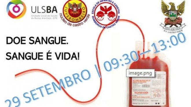 Bombeiros de Castro Verde organizam campanha de recolha de sangue