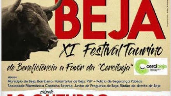 XI Festival Taurino de Beneficência a favor da Cercibeja no dia 12 deste mês