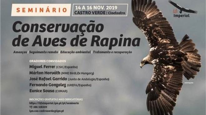 """Seminário """"Conservação de Aves de Rapina"""" em Castro Verde"""