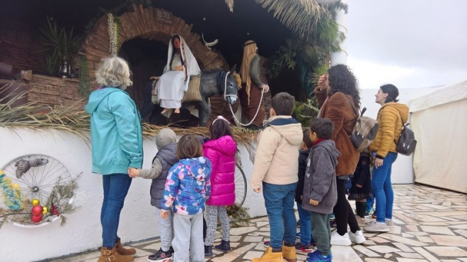Alunos de Mértola visitaram Presépio em Santana de Cambas