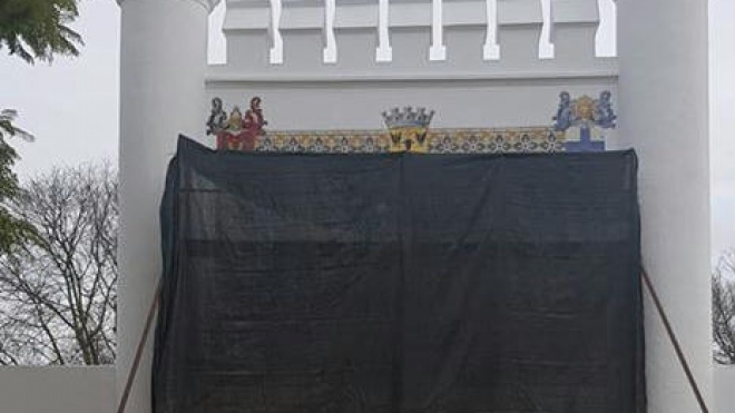 Painel de Azulejos do Jardim Público restaurado