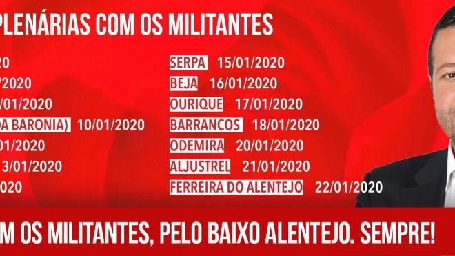 Nelson Brito contacta com militantes das concelhias do Baixo Alentejo