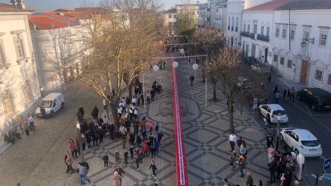 Praça da República em Beja recebe Bolo-Rei com 50 metros