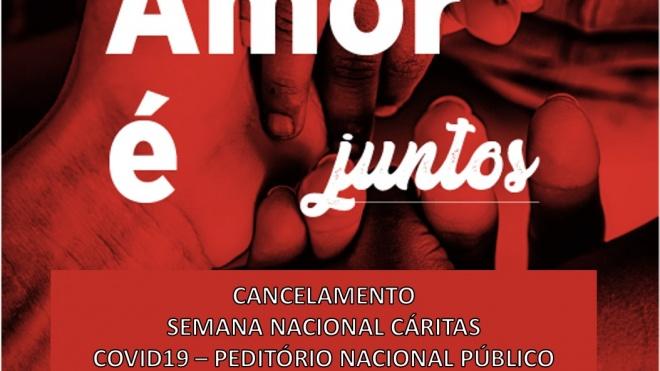 Peditório Nacional da Cáritas cancelado devido ao coronavírus