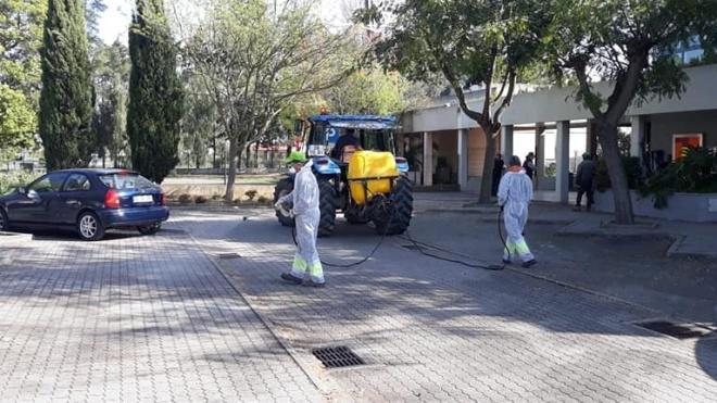 Autarquias já começaram a desinfeção dos espaços públicos