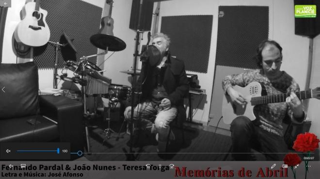 Fernando Pardal e João Nunes cantam José Afonso