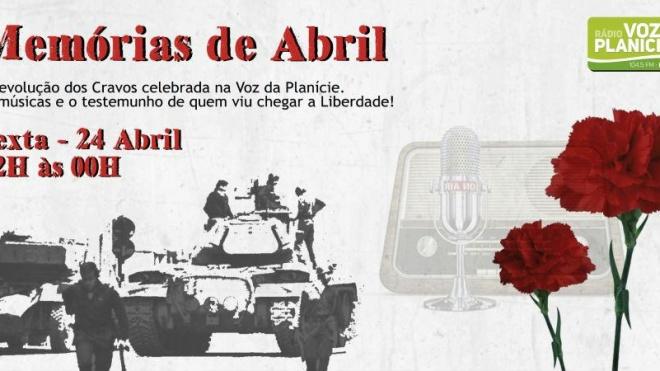 """RVP comemora Revolução dos Cravos com o programa """"Memórias de Abril"""""""