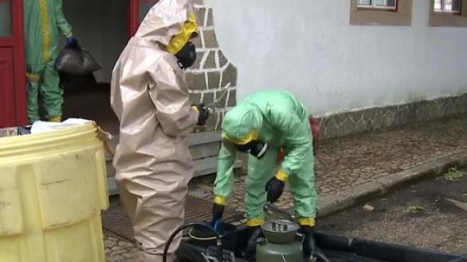 Militares procedem à desinfecção das escolas