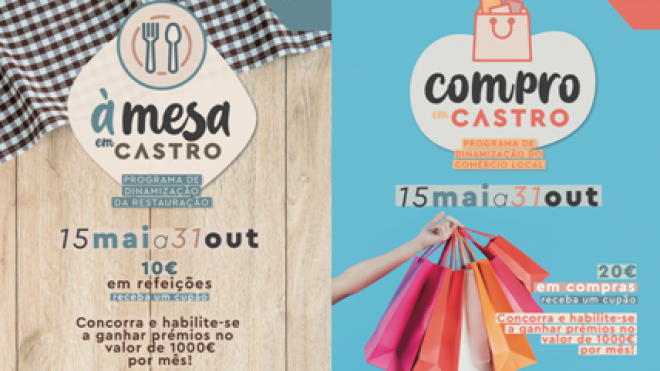 COVID19: Autarquia castrense promove Programa de Dinamização do Comércio Local