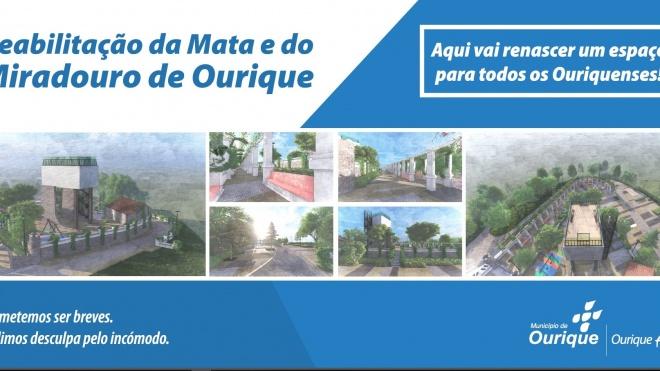 Câmara de Ourique avança com obras na Mata e no Miradouro