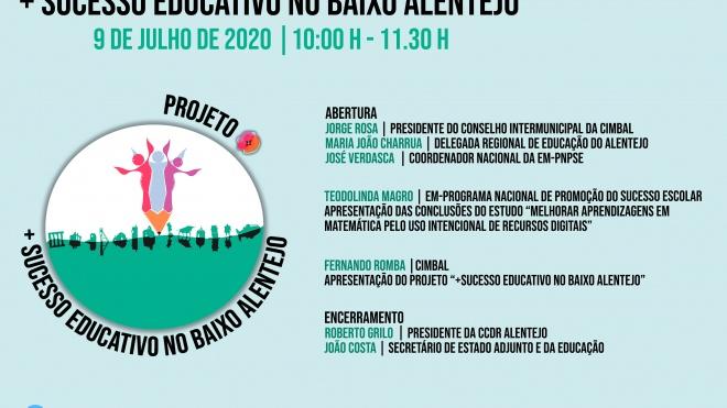 """Sessão de Apresentação do Projeto: """"+ Sucesso Educativo no Baixo Alentejo"""""""