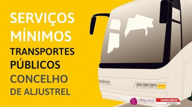 Serviços mínimos de transporte de passageiros garantidos em Aljustrel