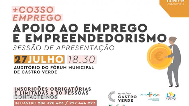 Sessão de apresentação do programa +CO3SO em Castro Verde