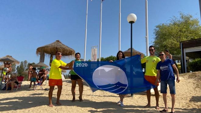 Cerimónia do Hastear da Bandeira Azul na Praia da Mina de S. Domingos