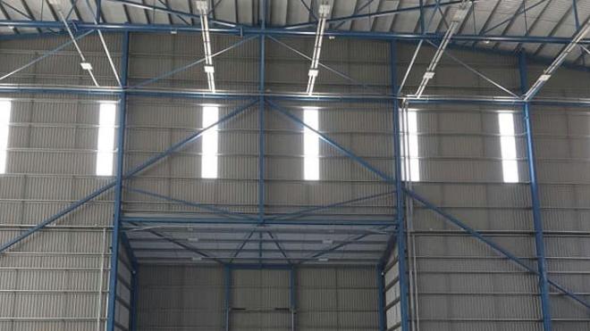 """Setembro: """"trabalhos de manutenção no hangar da «Mesa/Hifly» no aeroporto de Beja"""""""