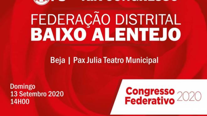 XIX Congresso da Federação do Baixo Alentejo do PS hoje em Beja