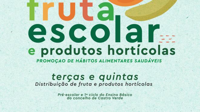 Distribuição gratuita de fruta nas escolas de Castro Verde