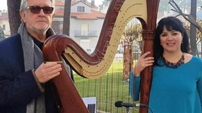Recital de Poesia e Harpa hoje no Centro UNESCO em Beja