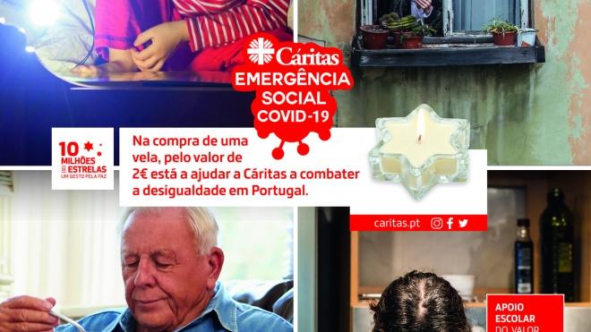 """Cáritas tem no terreno a campanha """"10 milhões de estrelas – um Gesto pela Paz"""""""