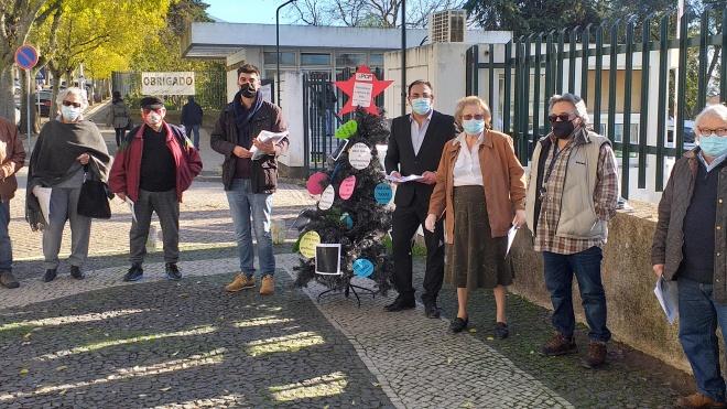 PCP saiu à rua para defender o SNS e mais investimento nesta área no distrito