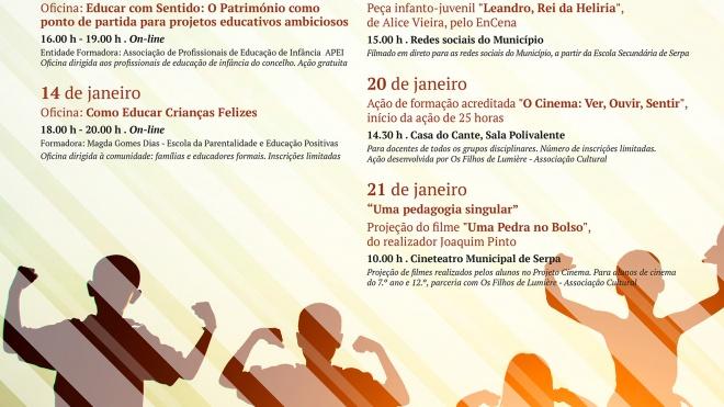 Serpa: de 11 a 21 deste mês promove a 5ª edição das Jornadas Municipais de Educação
