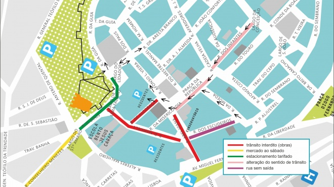 Beja: Alterações de trânsito no decorrer da implementação dos percursos acessíveis