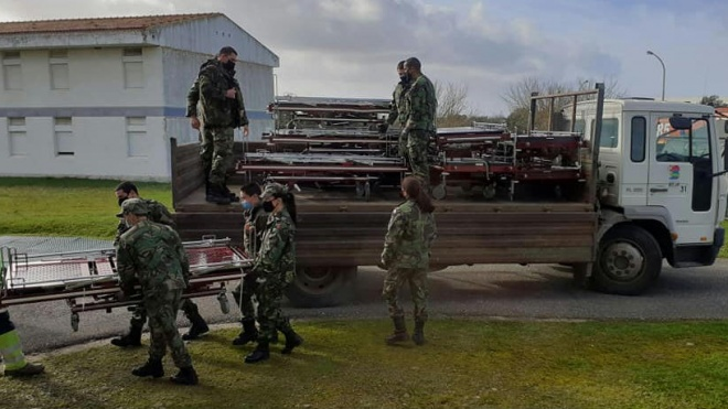 Covid-19: EAR do distrito de Beja na Base Aérea nº 11 e na Pousada da Juventude da cidade