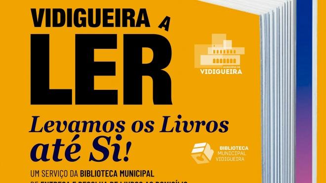 Biblioteca de Vidigueira implementa serviço de empréstimo domiciliário
