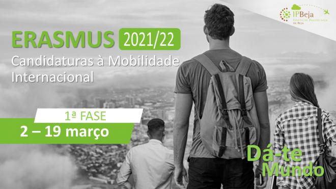 Abertura da 1ª Fase de Candidaturas à Mobilidade Académica de Estudantes 2021/2022